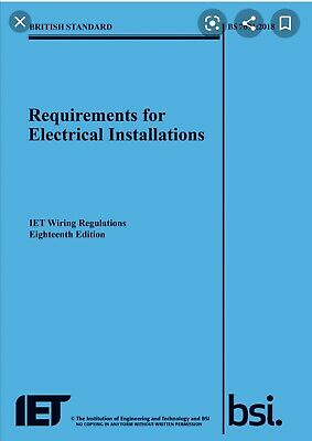 IET Wiring Regulations 18th Edition BS 7671:2018 Requirements 2018 Blue