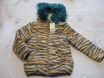 Next girls hooded shower resistant wadded warm winter jacket coat 6Y NWT