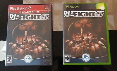 2x lot Def Jam Fight For NY Playstation 2 PS2 + XBOX. Microsoft