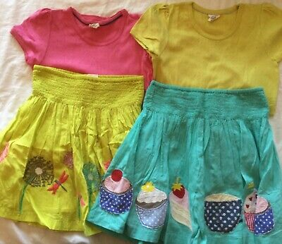 Mini Boden girls applique skirts and pointelle t shirts age all 11-12 VGC