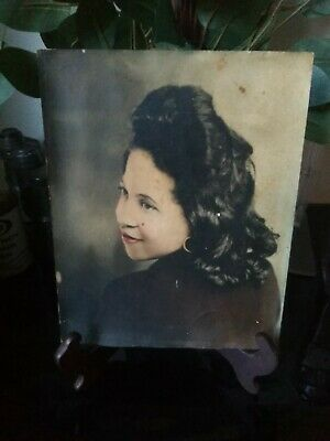 Old Original Photo of African American Woman Portrait !!