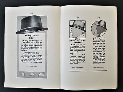 1915 antique STETSON HAT Co publicity CATALOG ready-made AD ELECTROTYPES BOOK