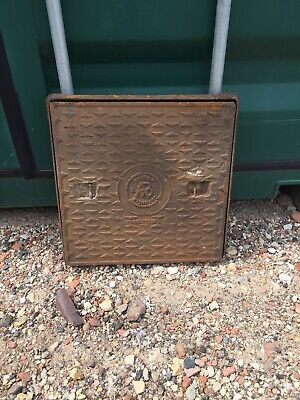 Reclaimed Cast Iron Manhole Cover & Frame. See Description.