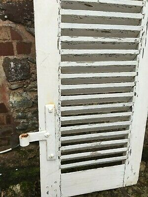 Vintage French shutter in white