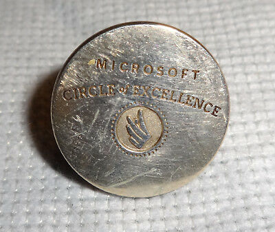 Rare Vintage Tiffany & Co 925 Sterling Silver MICROSOFT CIRCLE OF EXCELLENCE Pin