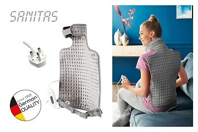 Sanitas Back & Neck Heating Pad Electric Heat Therapy Top Quality Soft Washable!