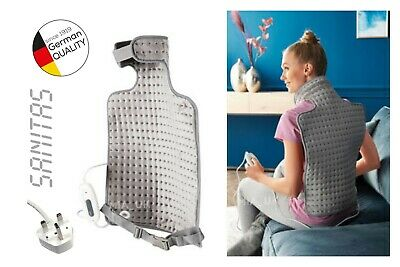Electric Heating Pad for Back & Neck Sanitas Therapy Top Quality Soft Washable!!