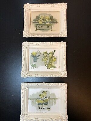 3 Vintage The Wee Musician Wall Plaques By Lowell