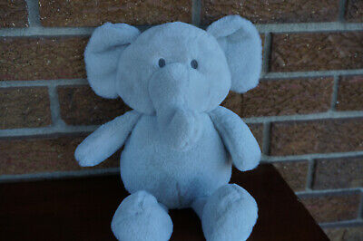BABY Plush KELLYTOY GRAY Elephant Stuffed Animal Crinkle Ears Rattle Kelly Toy
