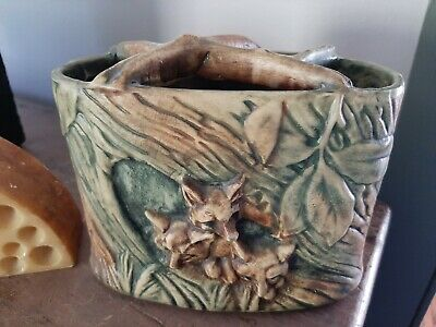 Weller Woodcraft Foxes Art Vase