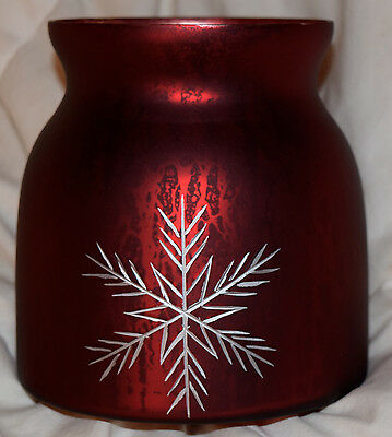 Snowflake Tealight, Votive Candle Holder, New, Glass, Winter, Pier 1