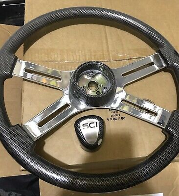 Steering Creations Used Carbon Fibre Steering Wheel And 18 Shifter Knob