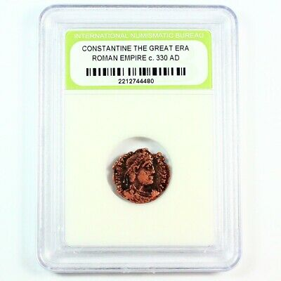 Ancient Roman Constantine the Great Era Coin c 330 AD - Exact Coin Shown 8491