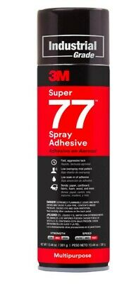 3M Super 77 Multipurpose Permanent Spray Adhesive Glue 13.44 oz Paper Wood Metal