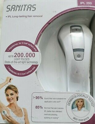 Sanitas IPL200 Log Lasting Hair Removal,dermatologically Tested
