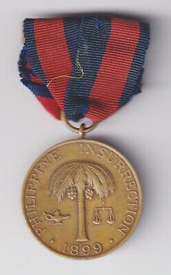 Army Philippine Insurrection Campaign Medal M No. 4487
