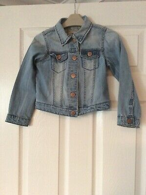Next Girls Blue  Denim Jacket Age 5-6 Years Vgc