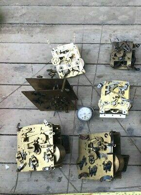 Joblot Of Antique Clock Movements