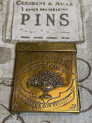 Messing Nadelbehälter The Louise Needle Case Brass W. Avery & Son