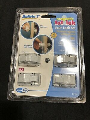 Safety 1st Magnetic Tot Lok 4 Lock Set. NEW SEALED