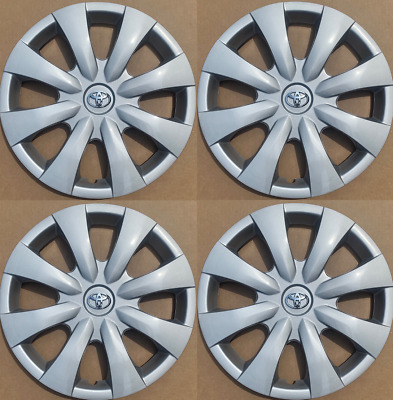 """4 x full set 15"""" Hubcaps Fits Toyota Corolla 2009 to 2013 Wheel Cover"""