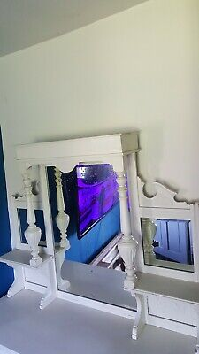 Lovely old overmantle mirror/Dresser top