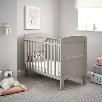 OBaby Grace Mini Cot Bed - Warm Grey - JUNE OFFERS