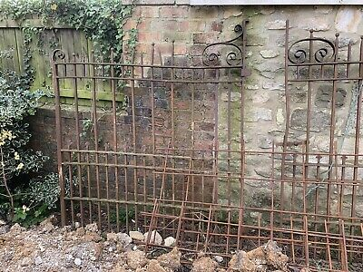 Salvage Antique Beautiful wrought iron gates