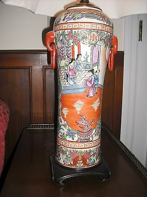 Chinese Porcelain table lamp, large
