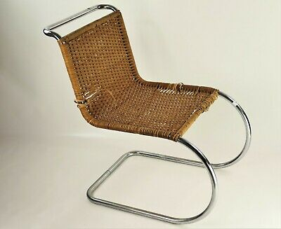 fauteuil chauffeuse chaise Mies Van der Rohe MR 10 chair Vintage with some damag