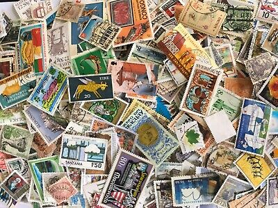 1000 worldwide stamps. Used. Modern and vintage. Off paper