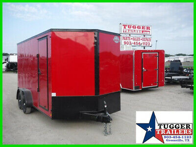 7X16 16Ft E-Series Blackout Ramp Cargo Enclosed Play Toy Side Work Lawn Trailer