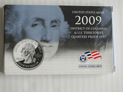 2009-S Proof 6-piece Quarter Set in Mint Box with COA