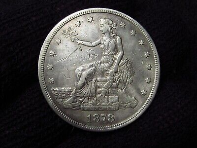 1878-S U.s.trade Silver Dollar Nice Original Coin Silver $