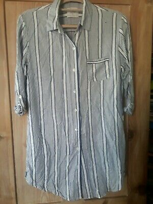 New Primark Love To Lounge Nightshirt. Size Medium (10/12). Grey & White stripe