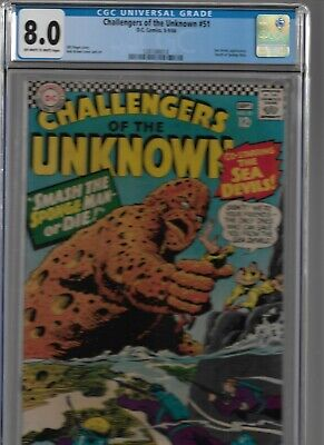 Challengers Of The Unknown #51 Cgc 8.0 Dc Comics 1966