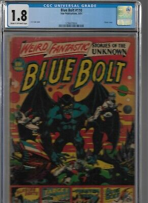 Blue Bolt #110 Cgc 1.8 Star Publications 1951