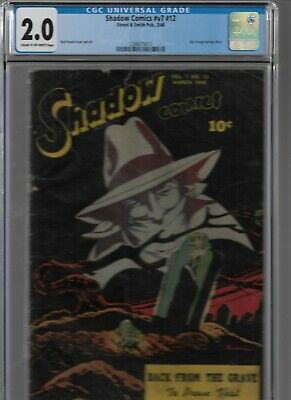 Shadow Comics #V7 #12 Cgc 2.0 Street And Smith 1948