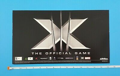 X-Men Store Display Video Game Launch Promo Sign Activision 2006 Wolverine