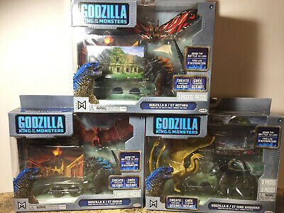 Godzilla King of the Monsters Action Figure boxed sets Mothra, Ghiddrah Set of 3