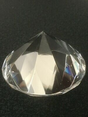 60 mm crystal glass paperweight clear diamond shaped gem wedding display gift