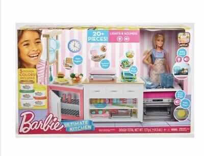 Barbie Ultimate Kitchen Playset Doll and Accessories Amazing Value