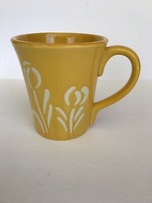 Yellow Floral Coffee Mug Extra Large 18 oz. by WCL Coffee Cup