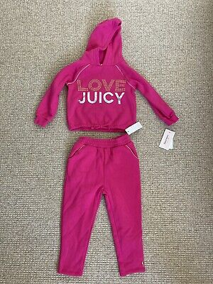 Juicy Couture Girls 3T (3 Years) Pink Tracksuit Set BNWT