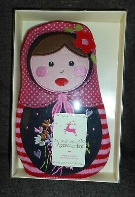 Accessorize Lavender Scented Wheat Filled Hottie Russian Doll Babushka New Boxed