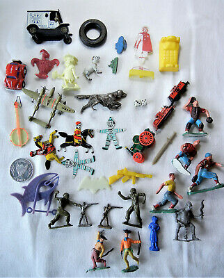 Vintage Estate Junk Drawer Lot of Smalls ~ Toys, Figures ~ -Marx & Much More
