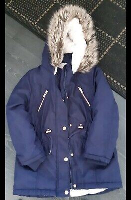Girls Asda Navy Winter Coat 7-8
