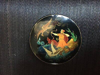 Russische Lackdose, Palekh, Palech 1965, USSR, Russian Lacquer Box