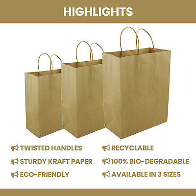 Twisted Handle Paper Bags | Bags With Twisted Handles, Brown Paper Bags Gift bag