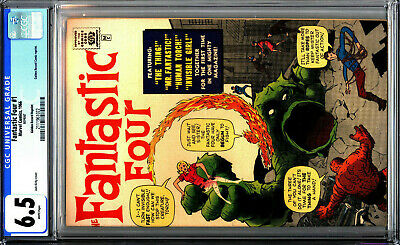 Fantastic Four 1 GRR CGC 6.5 WHITE PAGES! Golden Record Reprint 1966